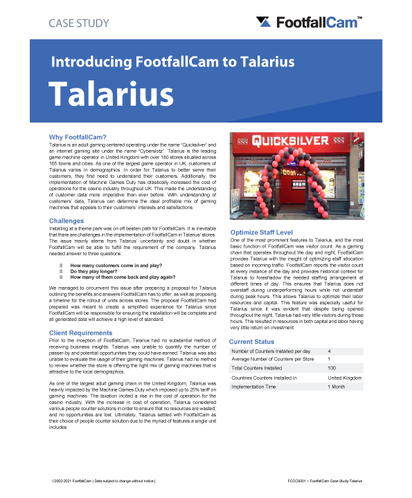 Étude de cas Talarius