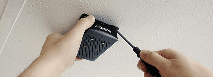 Mini computador FootfallCam - montagem no teto