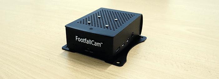 Mini computador FootfallCam - instalação padrão