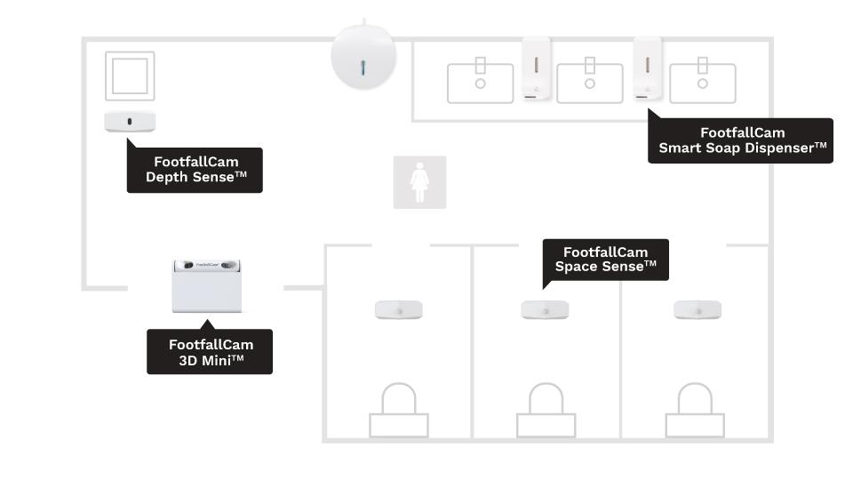 План этажа - Обычный туалет