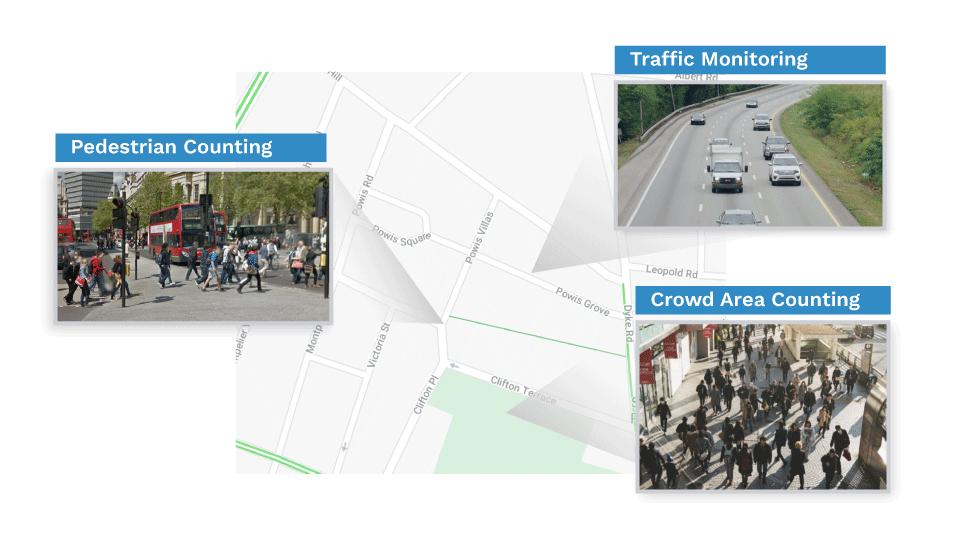 Plano de piso do projeto do sistema de contagem de ruas