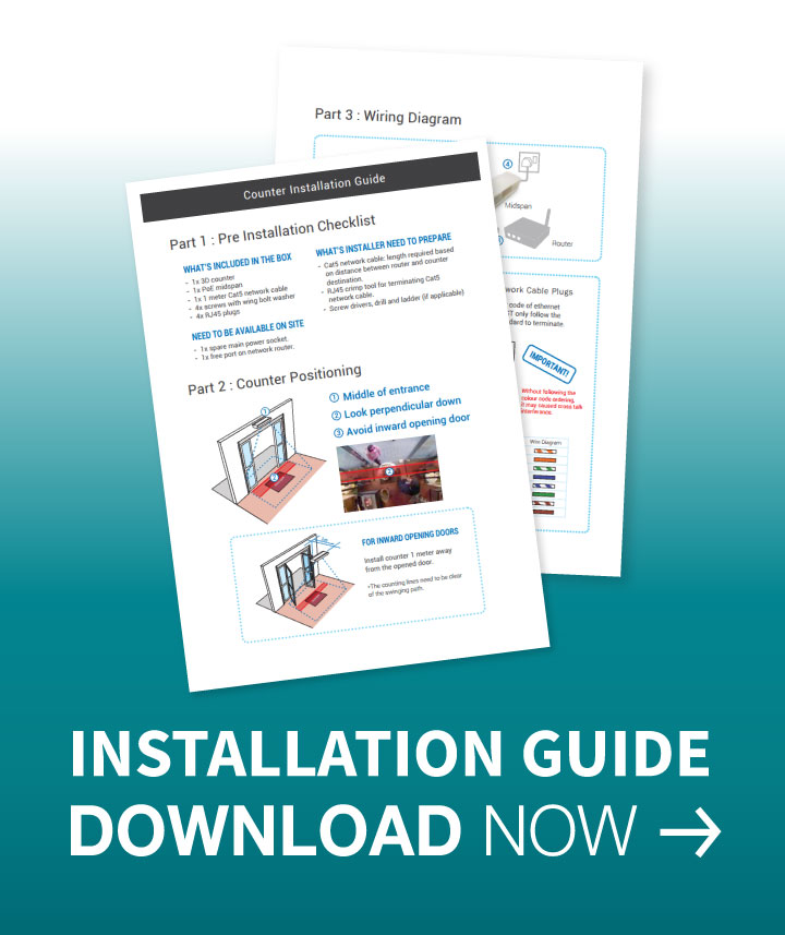 Download, Installation Guide , Installation Manual, people counting, people counter, footfall counter