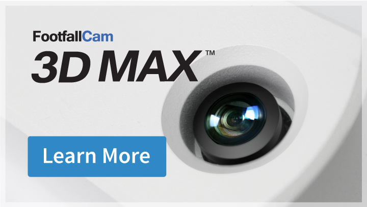 FootfallCam 3D Max, people counting, people countercontador de pasos